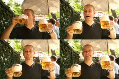 Es trinkt sich gut im Schweizerhaus.