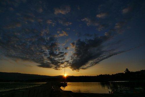 Sonnenaufgang in Šilo