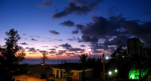 Panorama Mahmutlar bei Sonnenuntergang