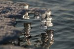 Eiszapfen als Schachfiguren