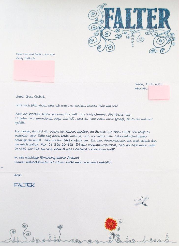 Falter-Brief