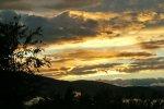 Schauspiel bei Sonnenuntergang
