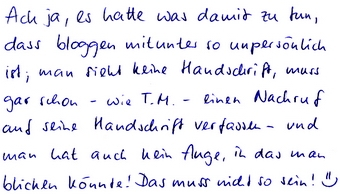 Handschriftposting - Etosha