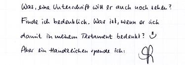 Handschriftstöckchen
